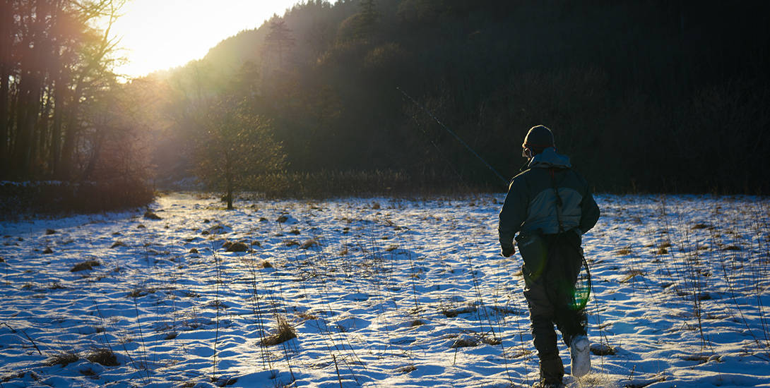 winter fishing in scotland for trout, grayling and pike, Fly Fishing Bait